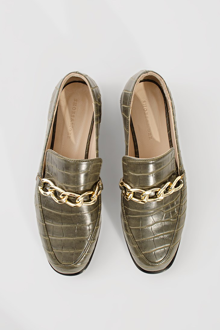 LOFFEX - Haki Croco - Loafer